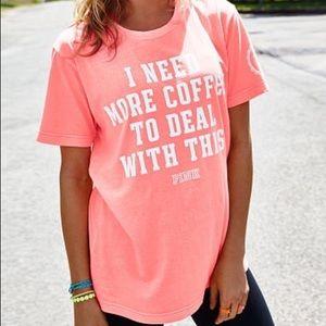 PINK Victoria's Secret Coffee Graphic Tee Shirt